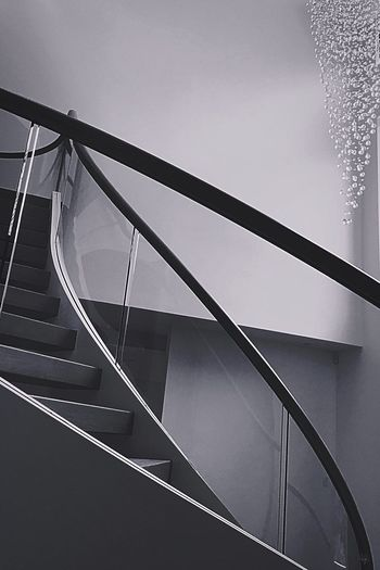 Staircase Steps And Staircases Railing Built Structure Architecture Steps No People Low Angle View Day Indoors  Hand Rail Spiral Staircase Close-up Sky
