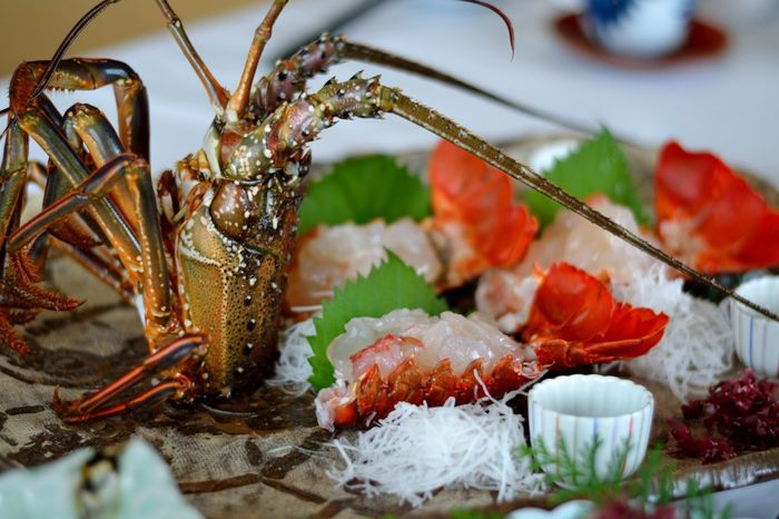Spiny Lobster Sashimi  Food Japanese Food Ready-to-eat Freshness Yummy 刺身 伊勢海老