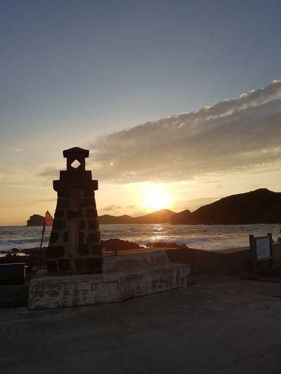 last Summer in the Jeju island EyeEm Blue Gold Building Exterior Lighthouse Shore Horizon Over Water Ocean Coast