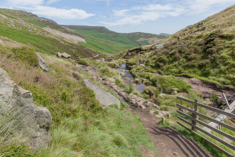 Beauty In Nature Britain Country Life Countryside Day Derbyshire Edale England Hill Idyllic Kinder Scout Landscape Mountain National Park Nature Non-urban Scene Outdoors Remote Rural Rural Scene Scenics Sky Summer Tranquil Scene Valley