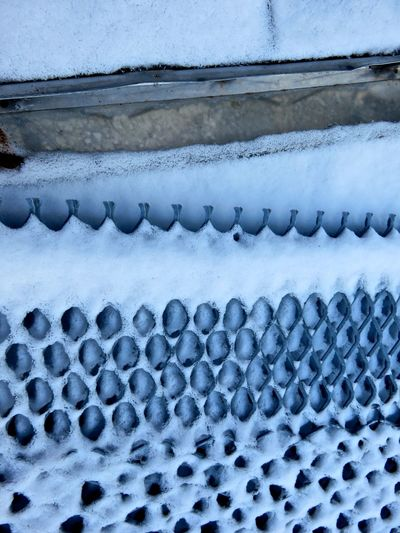 Abstract Cold Detail Dusting Grate Metal Order Pattern Snow Textured  Winter Its Cold Outside