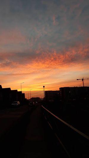 City Sunset Supermarket Road Silhouette Car Dramatic Sky Sky Cloud - Sky Landscape