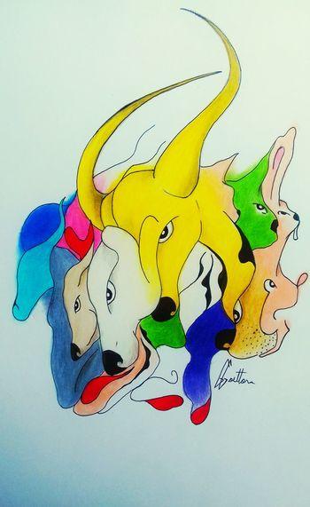 Animais Colors Art Art, Drawing, Creativity Doodleart