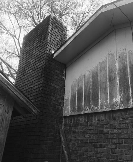 Chimney. Home. Old. Low Angle View Built Structure Building Exterior Outdoors No People Day Wood - Material Bricks In The Wall Architecture For Sale Louisiana.