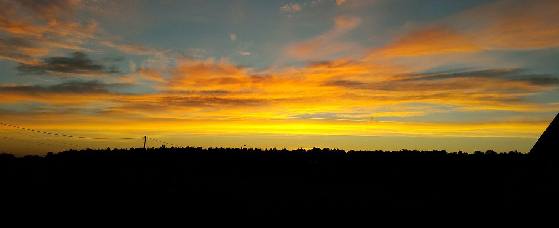 Sunrise Black&Yellow Beautiful Morning