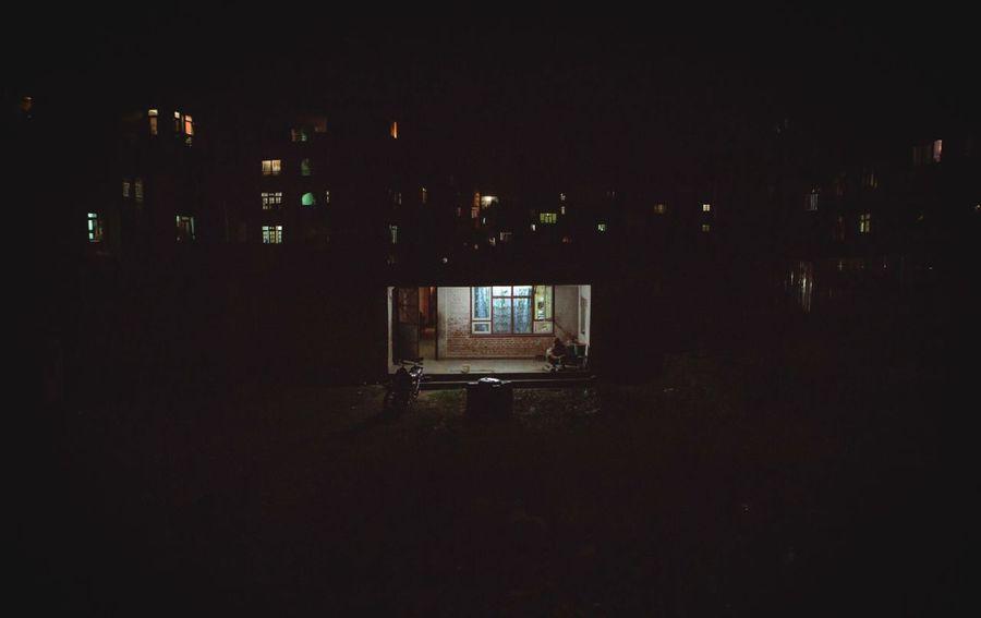 Nepal Kathmandu Night Dark Architecture Built Structure Building Exterior Indoors  City No People Illuminated Dwelling