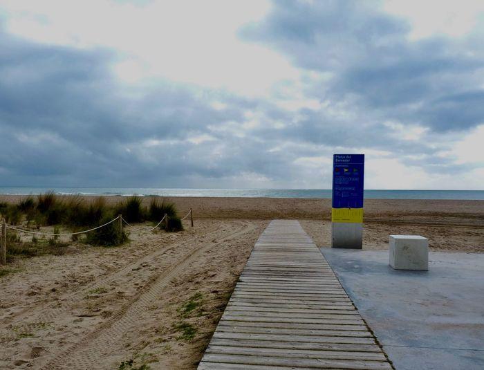 Cloud - Sky Beach Sand Horizon Tranquil Scene