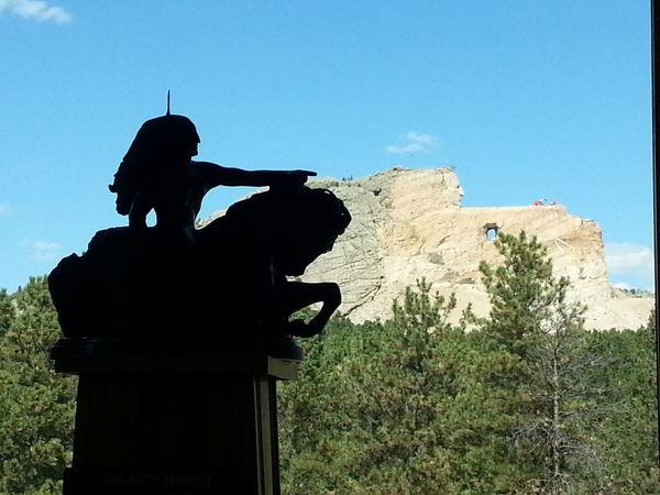 Crazy Horse Memorial South Dakota Monument USA Breathtaking Iconic Mountain Blue Sky