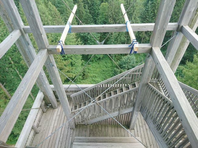 High Angle View No People Day Outdoors Nature Wood - Material Wood Construction Stairs HJB Mobil