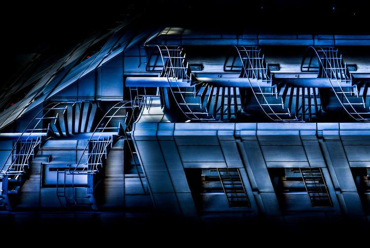 Gear Change Adventures In The City Architecture Blue Business Factory Futuristic Hdr Edit Industry Metal Modern No People Railing Staircase Steel Technology