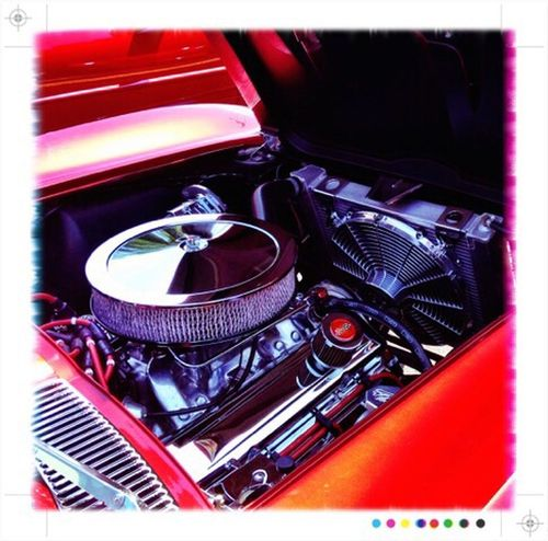 IPhoneography Process Project Car Automobile Red Engine Corvette Check This Out Taking Photos