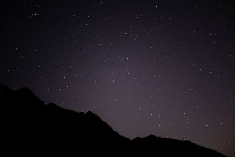 Mountains meet Sky Star - Space Silhouette Night Nature Beauty In Nature