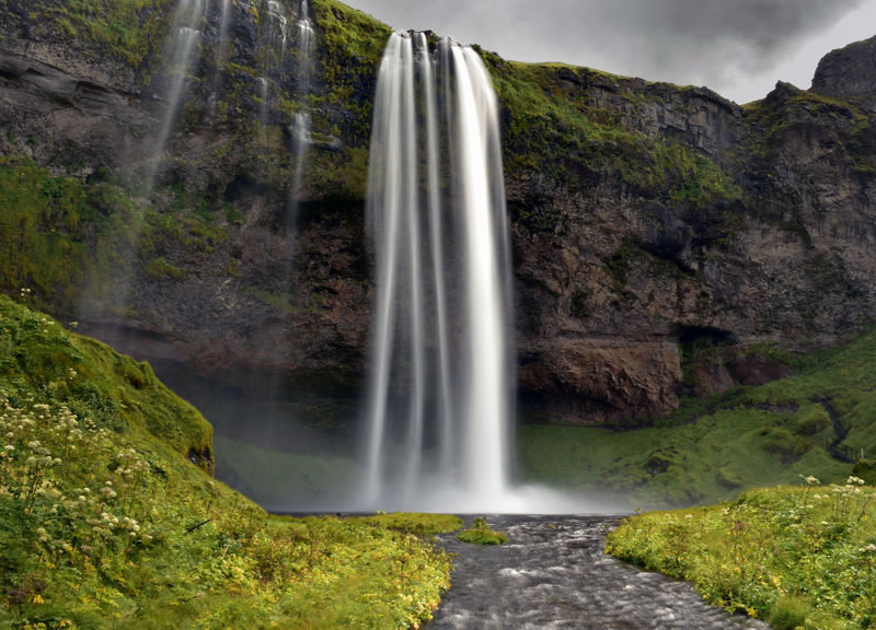 Iceland SeljalandsfossWaterfall Beauty In Nature Blurred Motion Environment Falling Water Forest Iceland_collection Long Exposure Motion Nature Outdoors Power In Nature Seljalandsfoss Water Waterfall