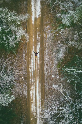 First snow Drone  Aerial View Aerial Mavic 2 Mavic 2 Pro Europe Lietuva Kaunas County Nature Frost First Snow DJI X Eyeem Selfie Man People Road Beauty In Nature Day Plant Scenics - Nature High Angle View Land Real People Forest Tranquility Non-urban Scene Outdoors Tree Lifestyles