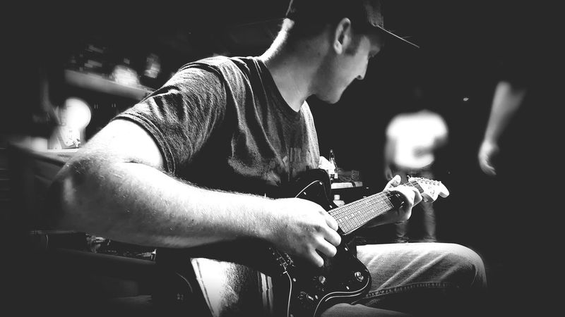 EyeEm Selects Guitar Electric Guitar Sublime Black And White Portrait Black And White Photography Black And White Collection