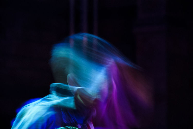 Moving in the dark Blurred Motion One Person Night Illuminated Long Exposure Blue Defocused Real People Arts Culture And Entertainment Black Background Motion Performance Moving Phantom My Best Photo