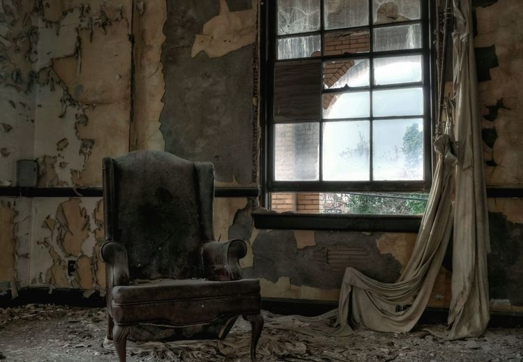 Armchair In Abandoned Room