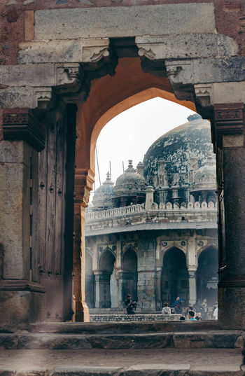 Arch Architecture Building Exterior Built Structure City Cultures Day Dome Entrance History Outdoors People Person Sky Tourism Tourist Travel Travel Destinations Vacations Vertical
