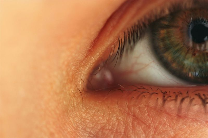 Cropped image of person with green eyes
