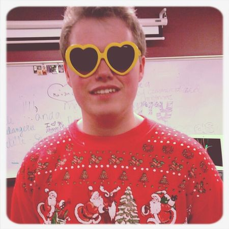 Merry Christmas! Smile Christmas Heart Glasses  Boy