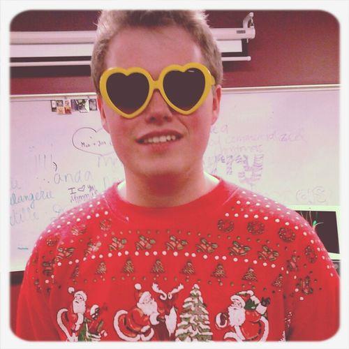 Merry Christmas! Smile Christmas Heart Glasses  Boy