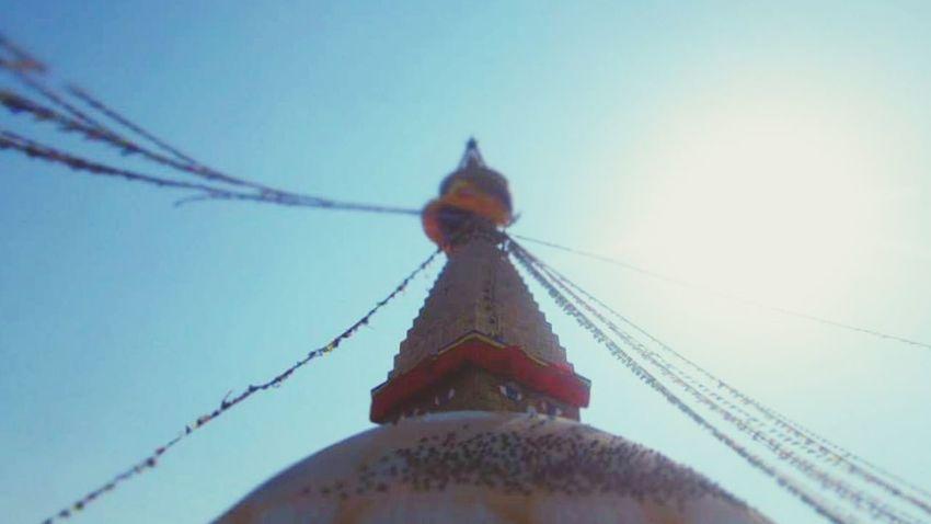 Sky Low Angle View Religion No People Outdoors Day Clear Sky Nepal Kathmandu, Nepal