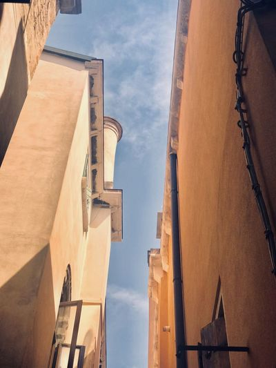 Low angle view of buildings against sky in venice, italy