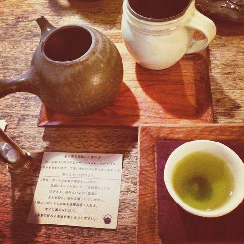 有機煎茶 天空 お茶の入れ方お教わりました♫