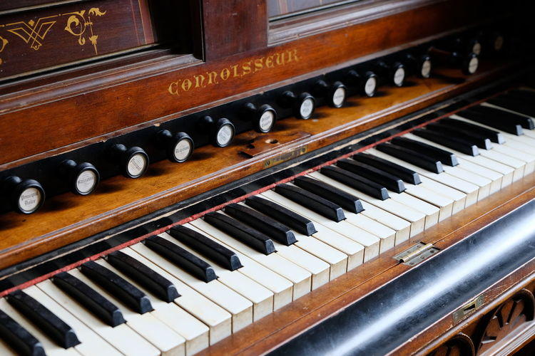 Shot at Montsalvat, Eltham. Arts Culture And Entertainment Black Color Close-up Day Indoors  Music Musical Instrument No People Piano Piano Key