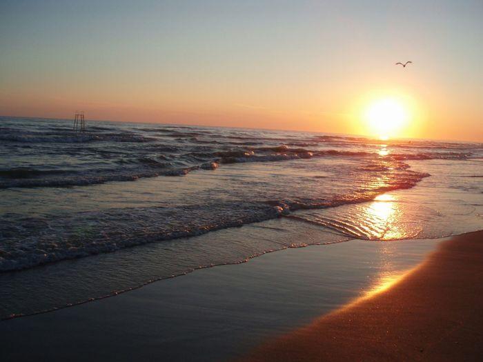 The Sunset on the Beach. Le Coucher Du Soleil sur la Plage. Закат на пляже. Море Sea Mer Capture The Moment