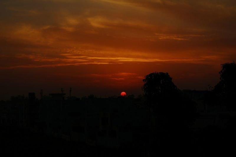 Sky No People Day Sunset Outdoors City Tree Nature Landscape Nature Black Foreground