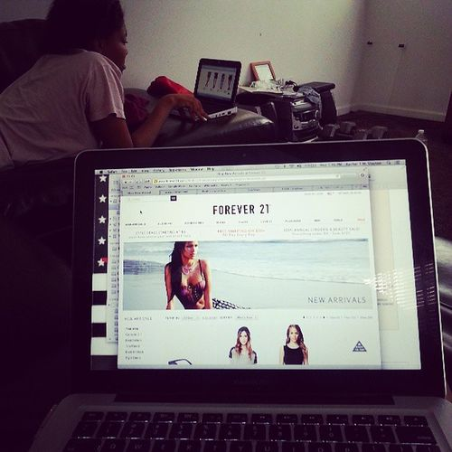 What we did today Onlineshopping
