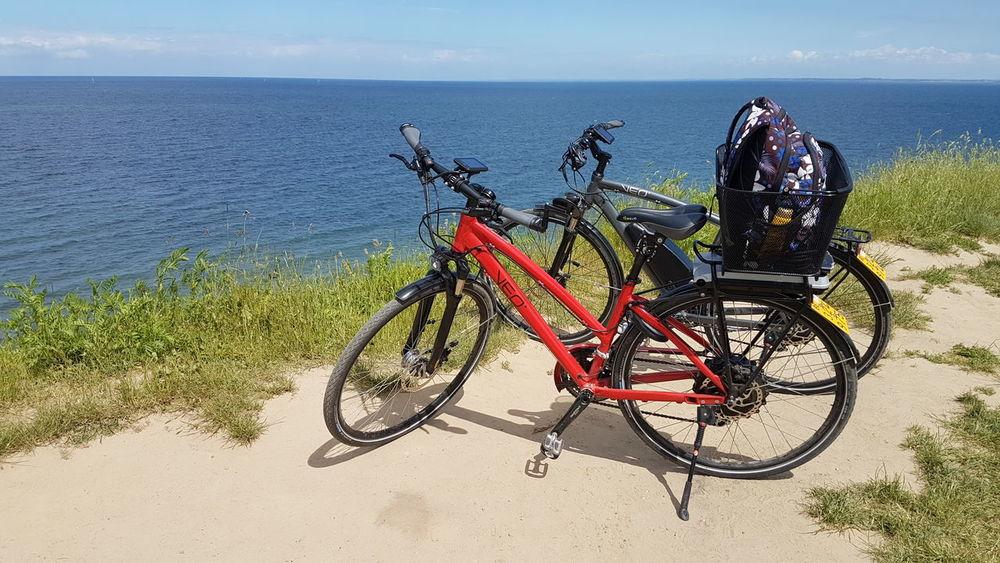 Bicycle Trip Fahrradtour Enjoying Life Ostsee Boltenhagen E-bike VEO-Bike Sea And Sky Meer Steilküste GalaxyS7Edge Ostseeküste