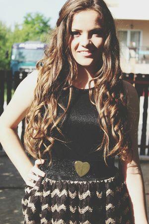 Sun Long Hair Smile ✌ Little Black Dress