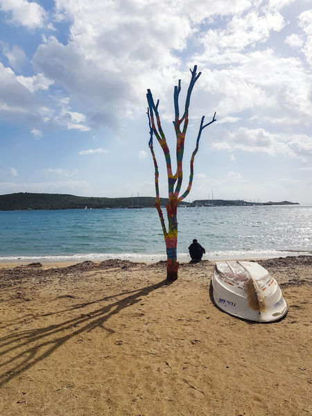 Alone Freedom Man Thinking Tree Beach Beauty In Nature Blue Boat Clouds Clouds And Sky Day Hapiness Horizon Over Water Outdoors Sand Sea Sea And Sky Shore Sky Still Life Sun Thinking About Life Tranquility Water