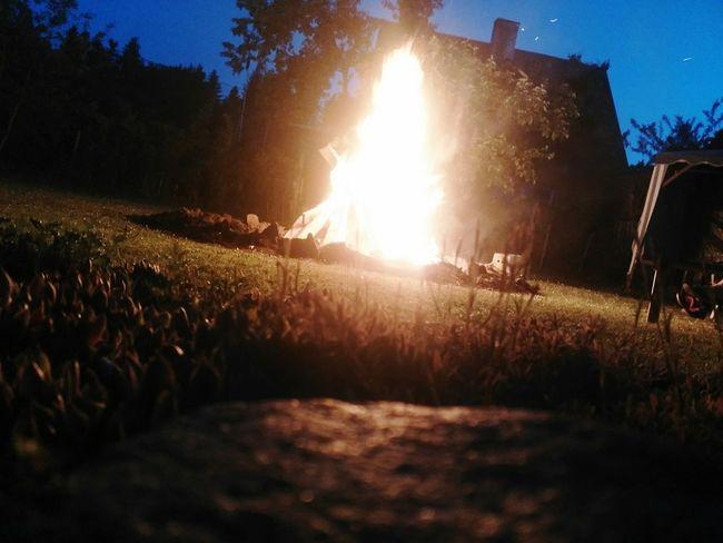 Midsummer Night Outdoors Midsummer Eve Sky