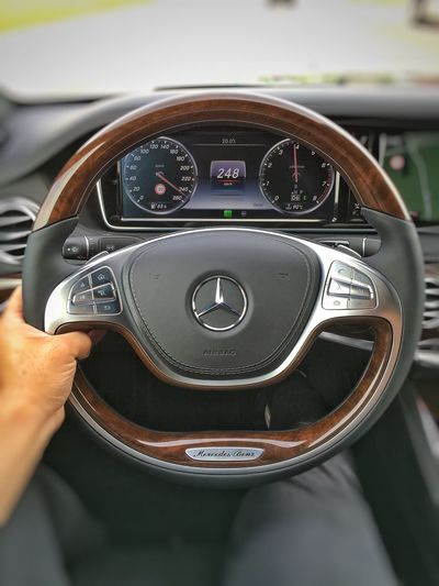 …made it to Unterschleißheim and just in time too! Mercedes S600 Steeringwheel