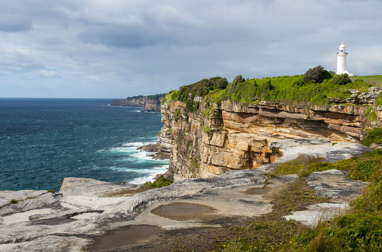 Australia Cliffs Diamond Bay Lighthouse Pacific Coast Trail Pacific Ocean Sydney Watsons Bay