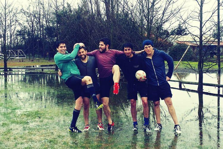 Rugby con los amigos
