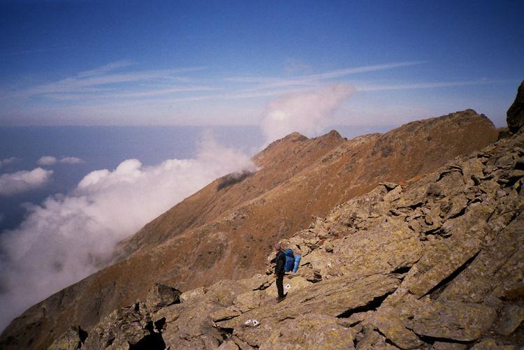 Hiker On Mountain