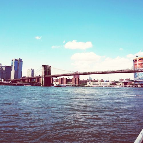 One of the many bridges that opens the world to New York ! Brooklyn Bridge  New York Amazing Architecture