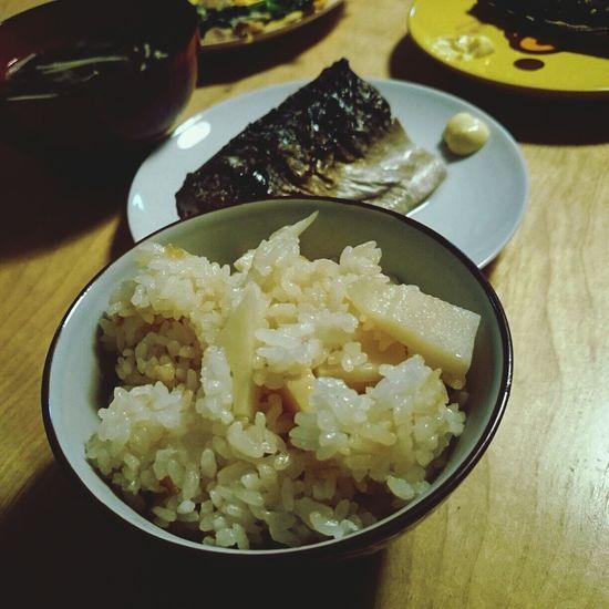 タケノコご飯 夕食