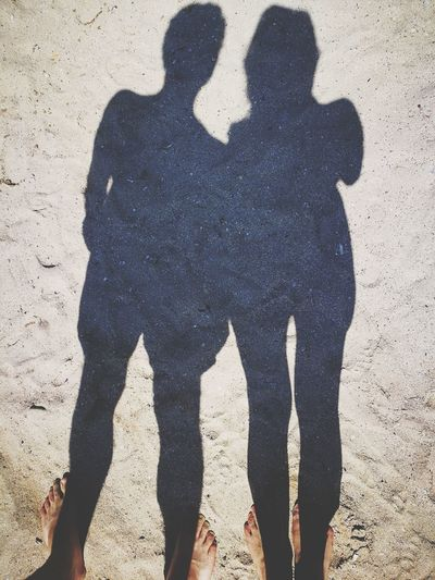 Couple - Relationship Toghetherness Souls Summer Sand Shadow Love