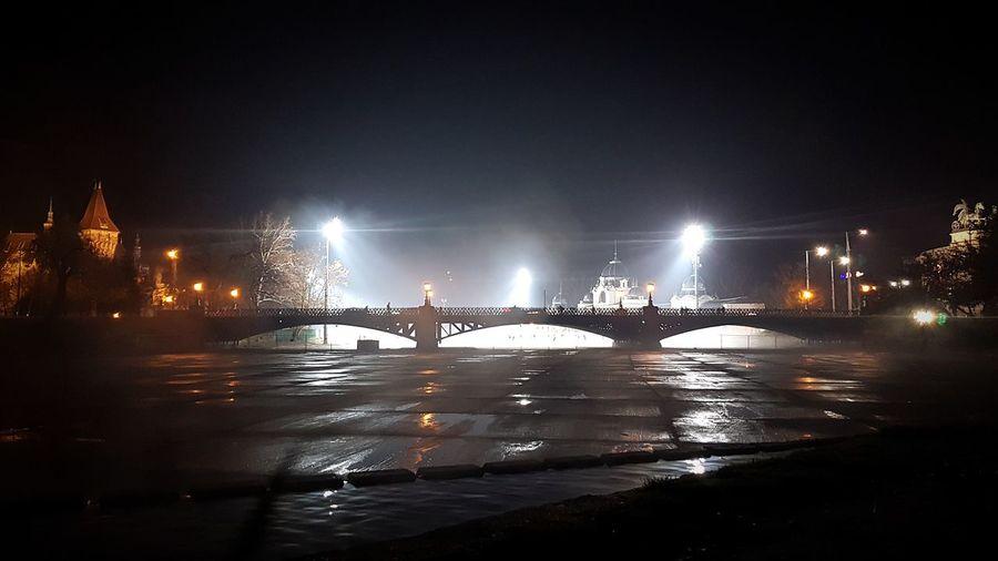 Night Water Illuminated Outdoors Nautical Vessel No People Sky