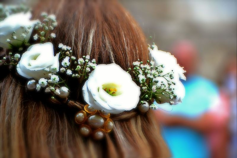 Hairstyle Part Of Particular Flowers Flower Collection May 2016 Mytown Sulmona Abruzzo - Italy Giostra Cavalleresca Sulmona Corteo Storico Historic City Historic People Medioeval Event