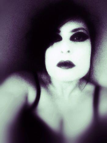 Watching you Goth Dark Portrait Selfportrait STAY HUMAN 💯 Open Edit NEM Self OpenEdit Blackandwhite Monochrome MeMyself&I Black & White Selfportrait_tuesday_nonchallenge Vampires And Werewolves