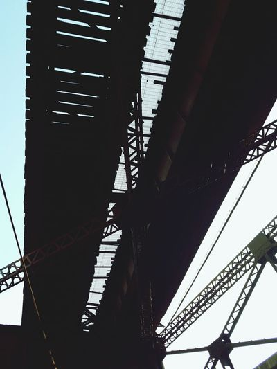 Tracks and Rails and Girders, Oh My! Business Finance And Industry Bridge - Man Made Structure Low Angle View Built Structure Architecture No People Girder Day Outdoors