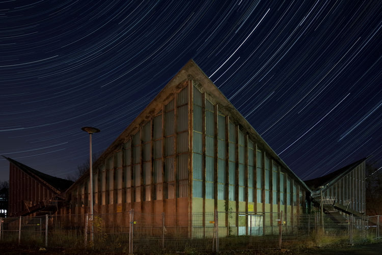 Abandoned Places Hyparschale Abandoned Buildings Architecture Forgotten Places  Germany Long Exposure Magdeburg Night Ricoh Gr Saxony Anhalt Star Star - Space Startrails Trail Ulrich Müther