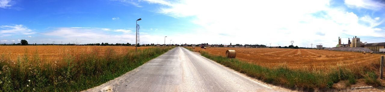 Panorama Landscape Countryside Open Road