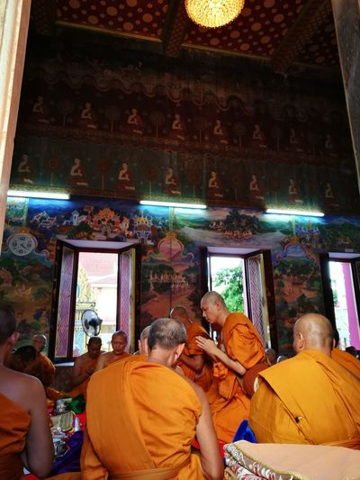 EyeEmNewHere Budhist Monk Cultures Ordained Temple Art Thailand Memorable Moment